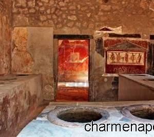 Pompei, interni di un'antica cucina