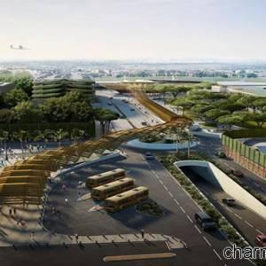 Progetto della stazione metro di Capodichino