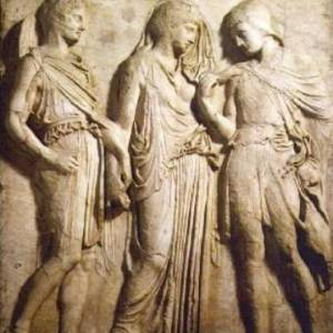 Il rilievo di Orfeo ed Euridice