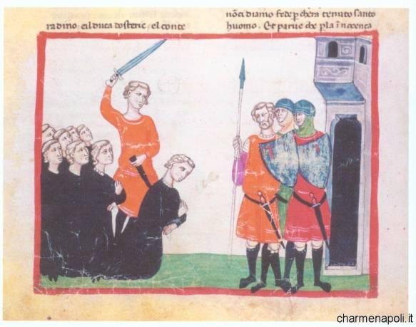 La decapitazione di Corradino in un'antica miniatura