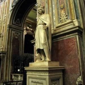 Napoli, basilica del Carmine, il monumento a Corradino di Svevia