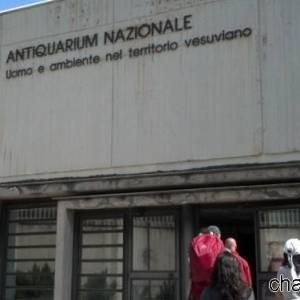 L'ingresso dell'Antiquarium di Boscoreale