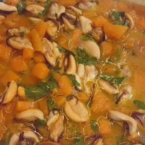 ricetta paccheri zucca cozze