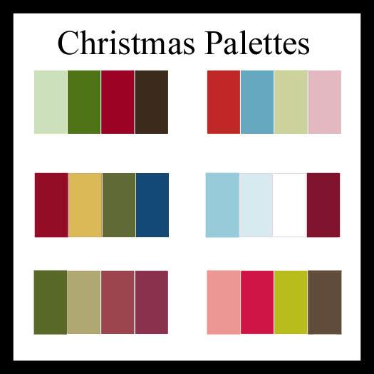 christmas color palettes to kick off the season