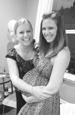 Be-YOU-tiful - Baby momma and me at her baby shower
