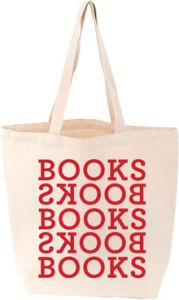 Tote Bag Book Bag with Books Books logo