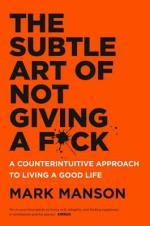 Orange cover with title text - Art of Not Giving A F*ck