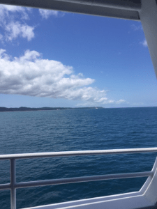 Ocean view from ferry Moreton Island