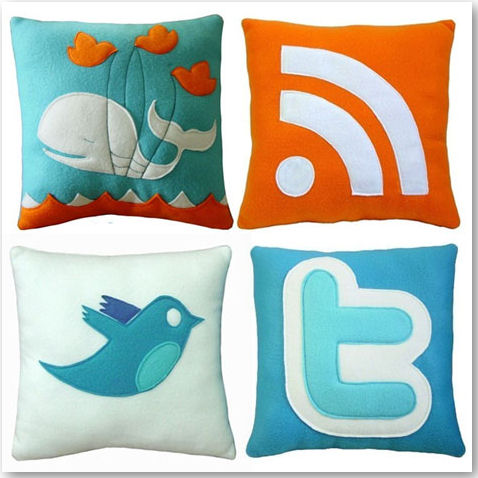 Social Media and Geeky Pillows - © Craftsquatch