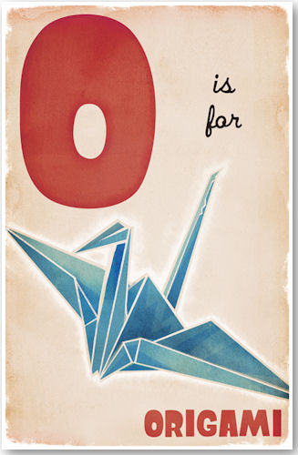 O is for Origami - © D. P. Sullivan