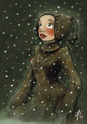 Postkartenmotiv Neuschnee - © Iris Luckhaus