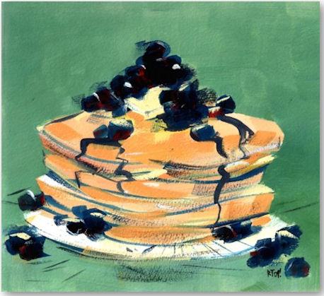 Blueberry Pancakes - © Riki Takaoka