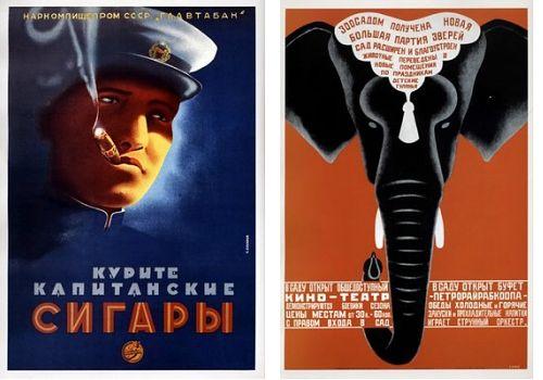 sowjetische Poster