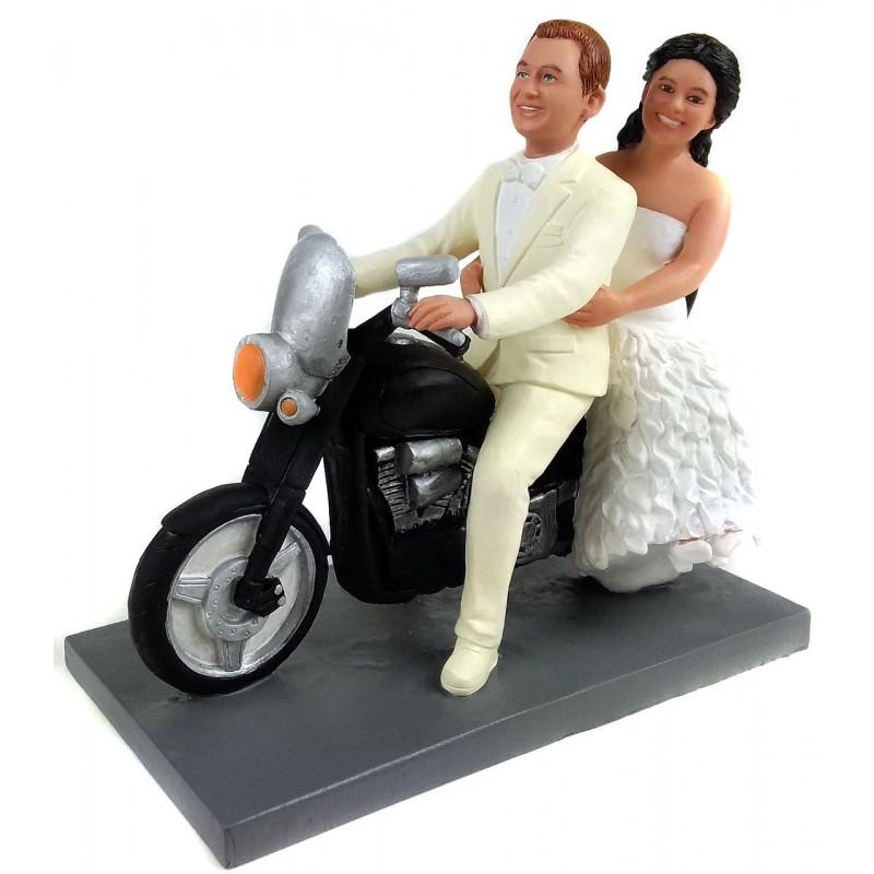 Motorcycle Wedding Cake Toppers