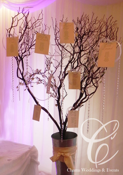 Wedding Wishing Tree Wedding Table Centres Candelabras Martini Glasses Belfast Northern