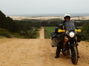 Some serious inclines on the way. Dunes as mentioned in the back.
