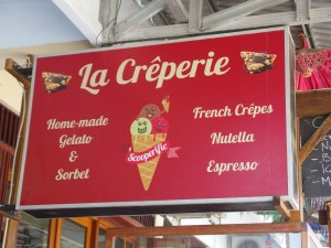 So touristy, they even have Nutella! And no, I didn't have a crepe