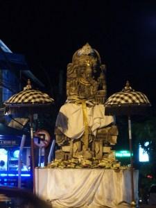 Hindu symbolism everywhere. Here, a roundabout