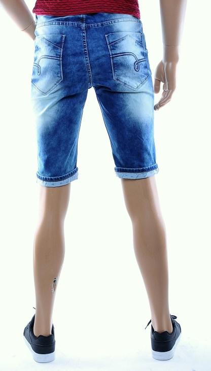 Normani hippie vintage heren stretch korte spijkerbroek, N326 Blauw