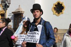 En la plaza del Socorro se han leído algunos textos contra la violencia de género. // CharryTV