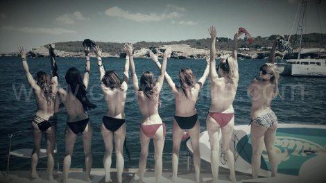 despedida de solteira em topless vela alugar Ibiza