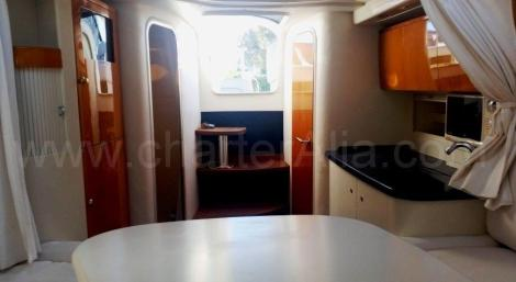 kitchen on board the Endurance 39 Yacht for rent in the Balearics