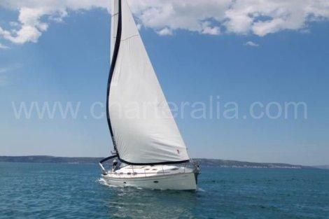 Charter de barco a vela em Ibiza em plena vela