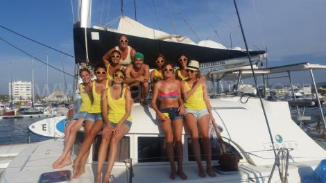 Grupo frances Ibiza festa de despedida de solteira