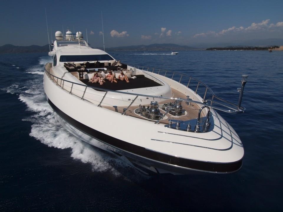 ZEUS Yacht Charter Details Mangusta 165 Superyacht
