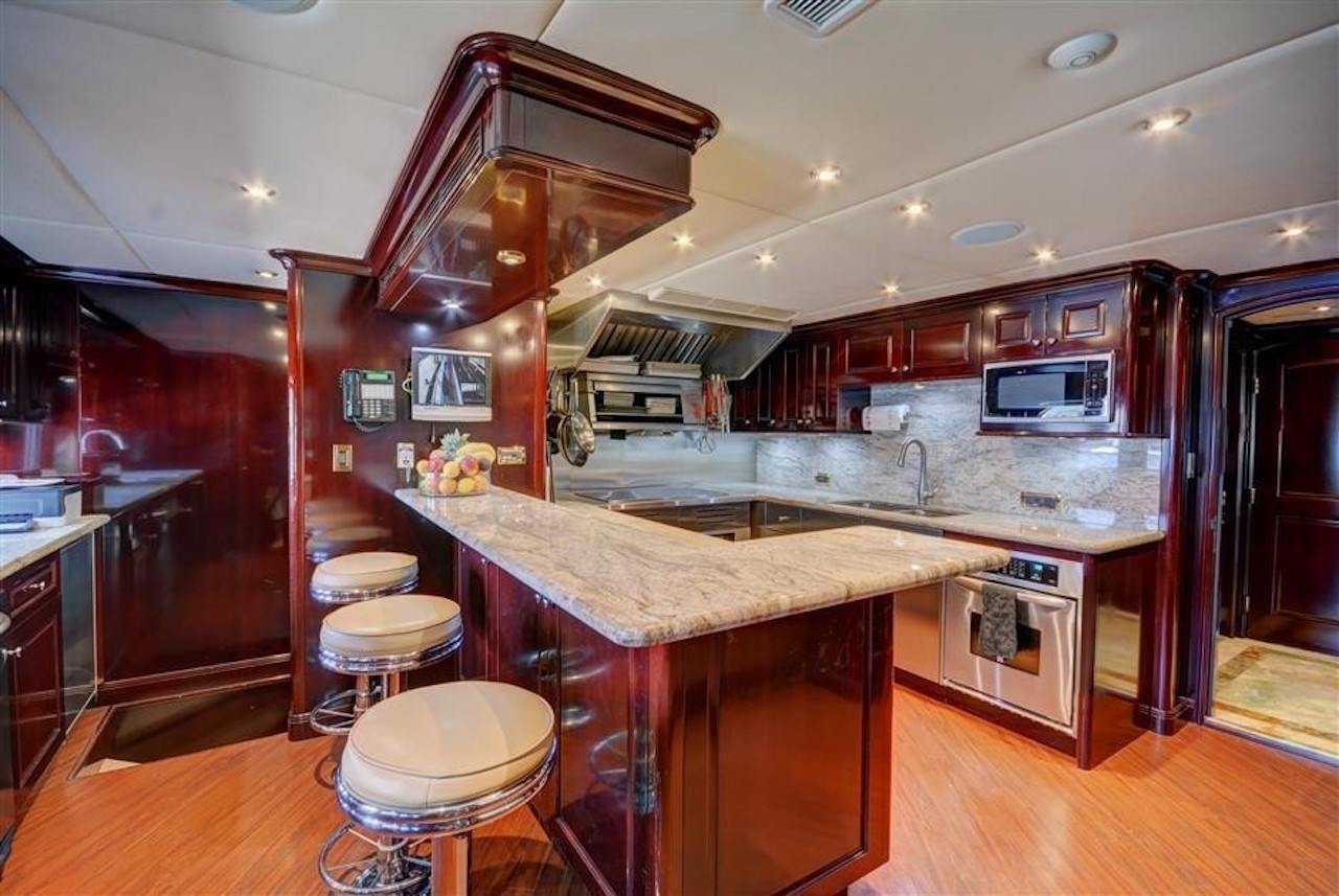 Galley Image Gallery Ships Galley On Board Yacht FAR FROM IT Galley Luxury Yacht Browser