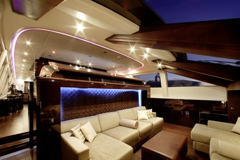 MY TOY Seating Area Next To Helm Luxury Yacht Browser