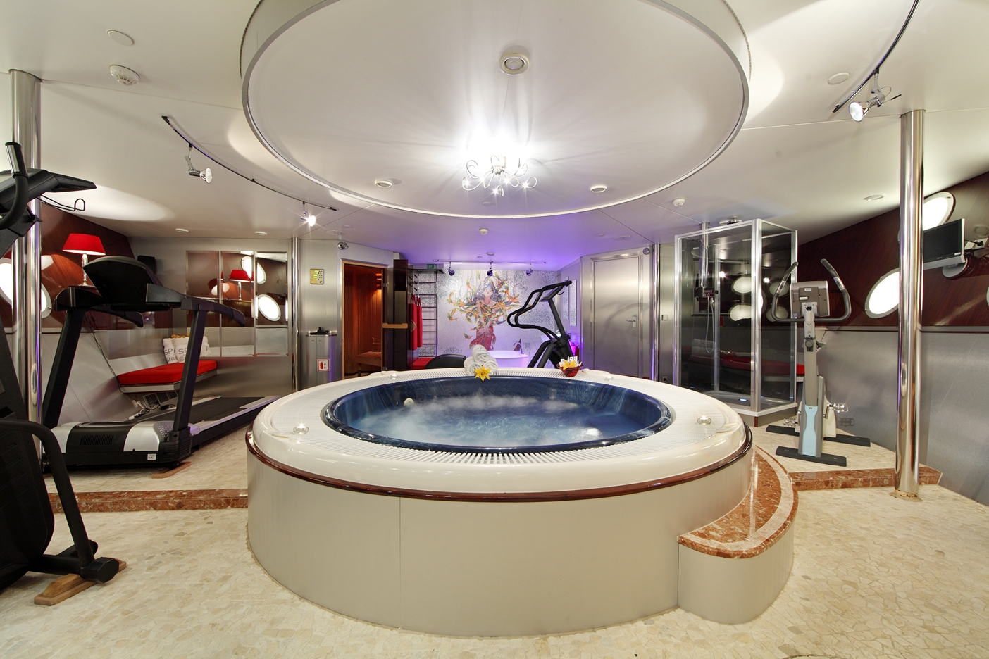 Luxury Yacht Charter Yacht SHERAKHAN Spa And Gym
