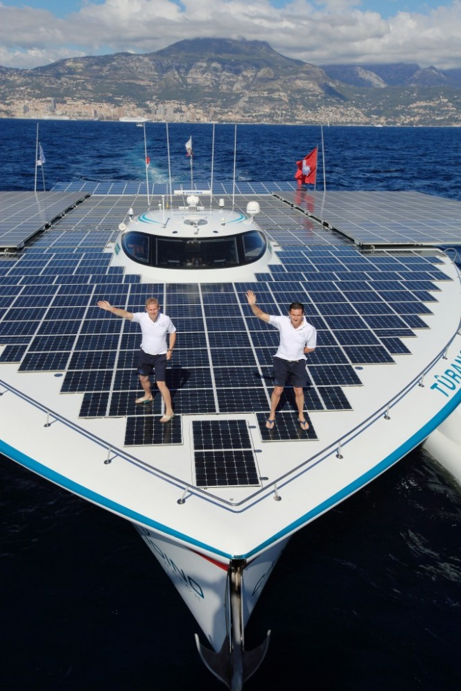 TRANOR PlanetSolar Catamaran Reaches Miami Florida
