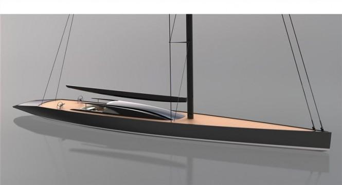 65m sailing yacht design by Dubois (P1409)