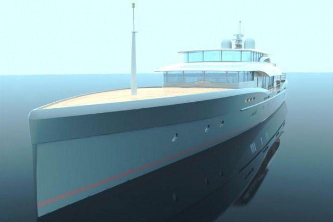 Sencora 52M motor yacht bow