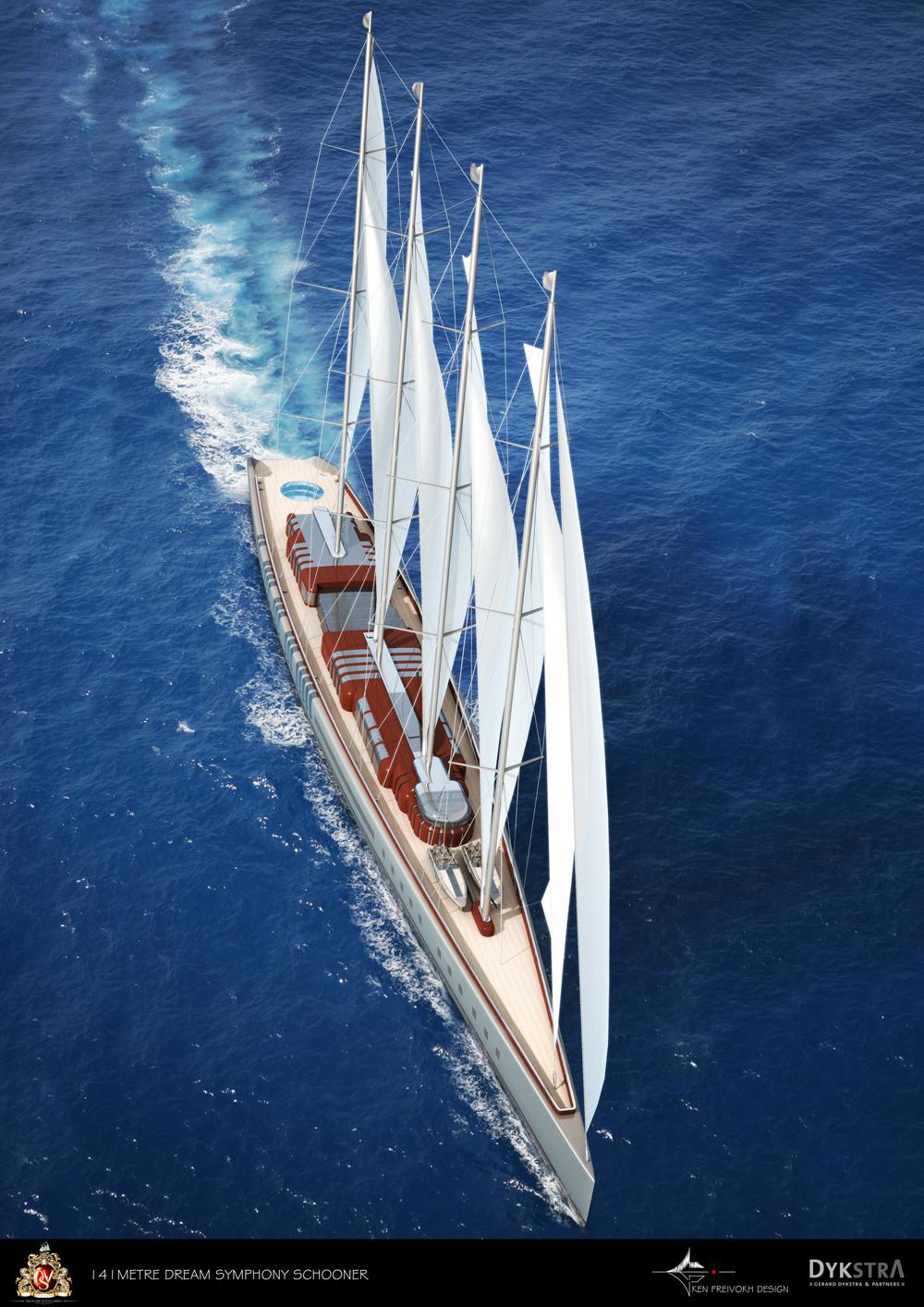 Dream Symphony Megayacht Top View Image Courtesy Of