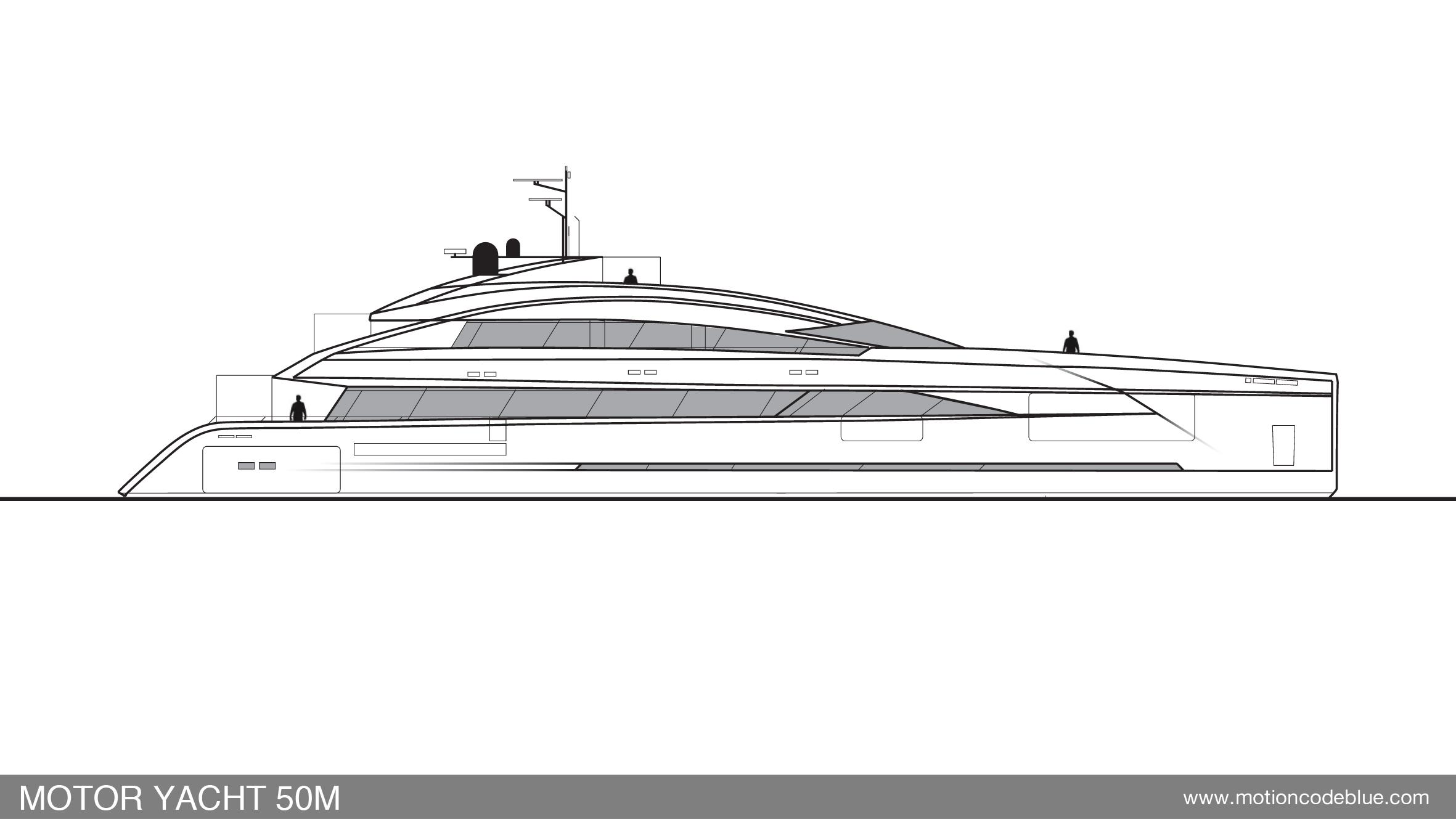 Motion Code Blue 50m Yacht Design Concept