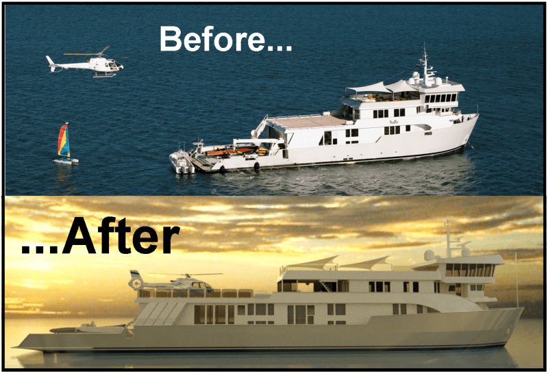 Luxury Motor Yacht SuRi Before And After Yacht Charter