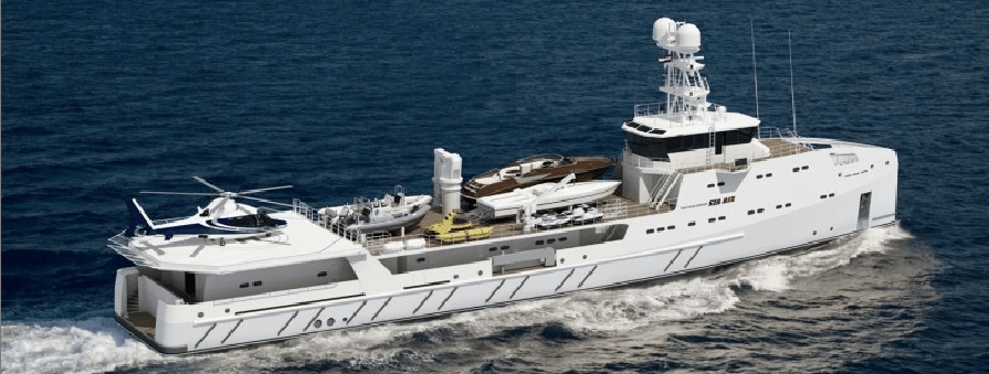 67m Amels GARON To Be Support Vessel To The 87m Luxury