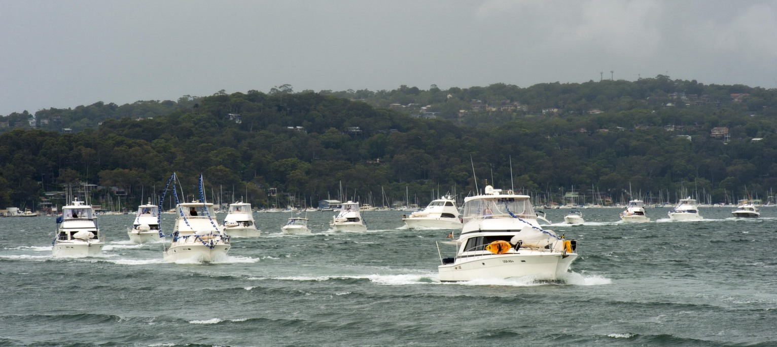 An Impressive Parade Of Riviera Boats Representing Over