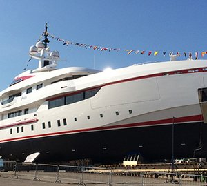 Video From Launch Of 54m ISA Motor Yacht FOREVER ONE