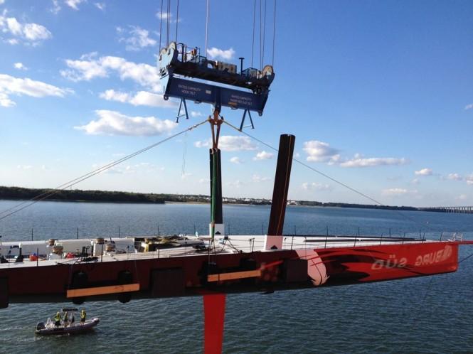 Aurora Delivers 100ft Supermaxi Sailing Yacht COMANCHE Set