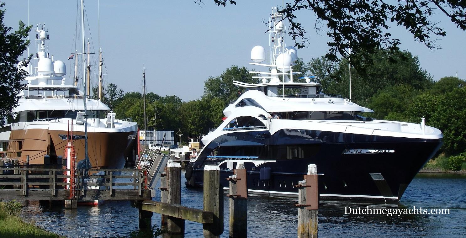 Heesen Superyachts Azamanta And Ann G In Hellevoetsluis Photo By Dutchmegayachts Yacht