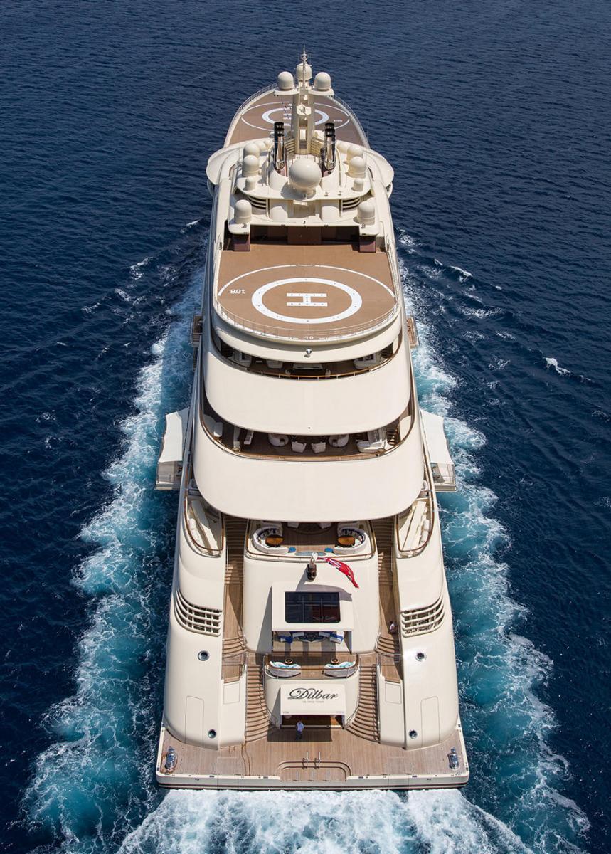 Lurssen Dilbar Credit Jeff Brown Yacht Charter