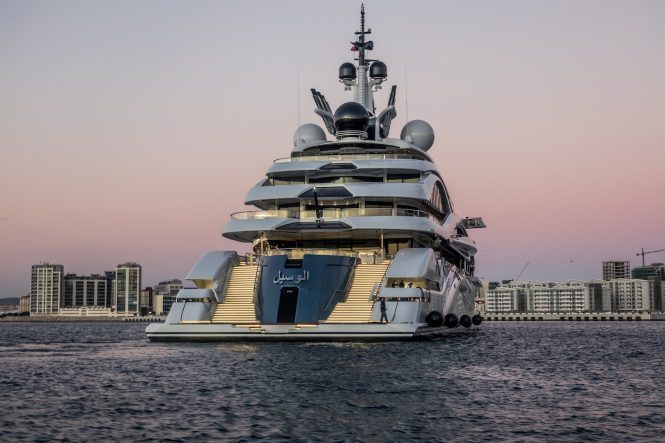 In Pictures Mega Yacht Al Lusail Yacht Charter