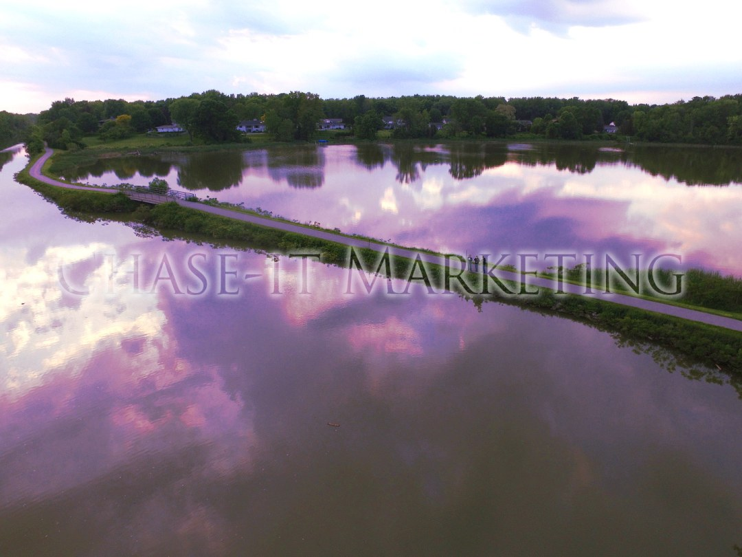 Erie Canal and retention pond - Penfield, NY - Chase-It Marketing