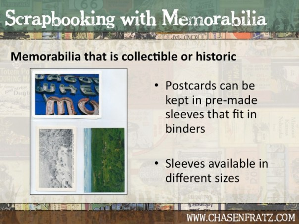 Valuable memorabilia can be displayed in pocket pages.