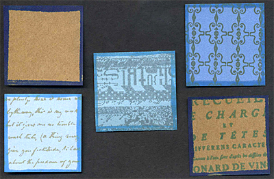 Squares with background stamping