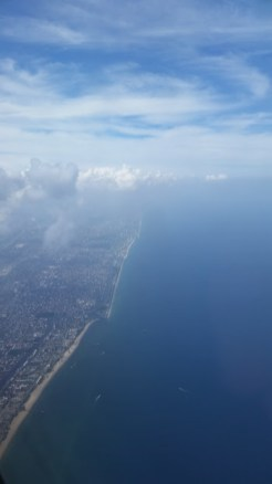 Florida Coast while flying out of Fort Lauderdale