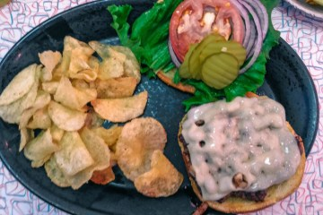 Kroll's Mushroom and Swiss Burger